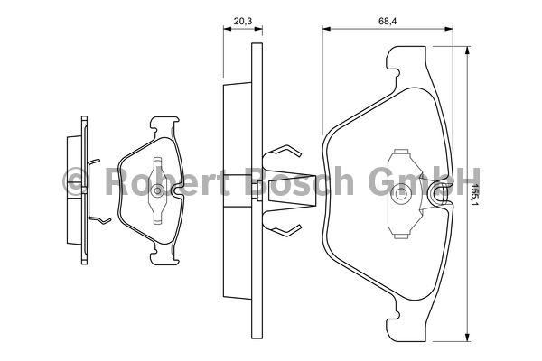 Kit de plaquettes de frein, frein à disque - BOSCH - 0 986 494 036
