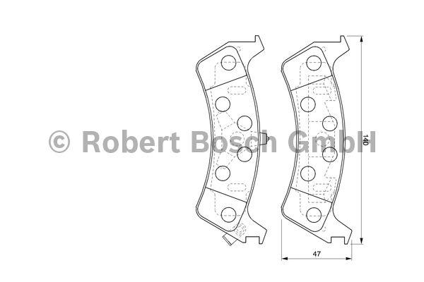 Kit de plaquettes de frein, frein à disque - BOSCH - 0 986 424 655