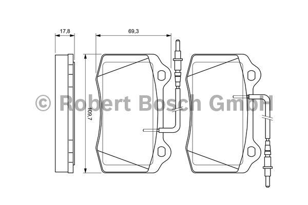 Kit de plaquettes de frein, frein à disque - BOSCH - 0 986 424 658