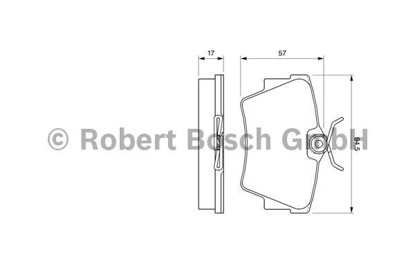 Kit de plaquettes de frein, frein à disque - BOSCH - 0 986 424 662