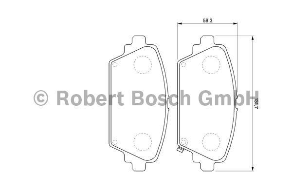 Kit de plaquettes de frein, frein à disque - BOSCH - 0 986 424 663