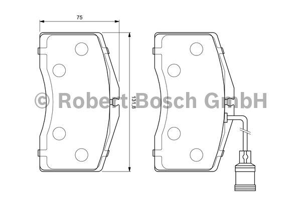 Kit de plaquettes de frein, frein à disque - BOSCH - 0 986 424 664