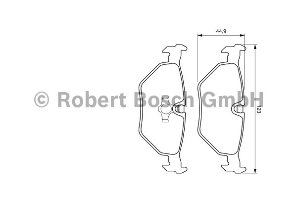Kit de plaquettes de frein, frein à disque - BOSCH - 0 986 424 667