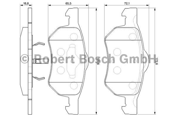 Kit de plaquettes de frein, frein à disque - BOSCH - 0 986 424 668