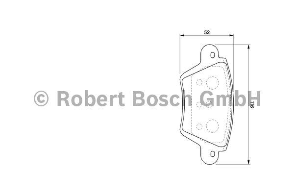 Kit de plaquettes de frein, frein à disque - BOSCH - 0 986 424 671