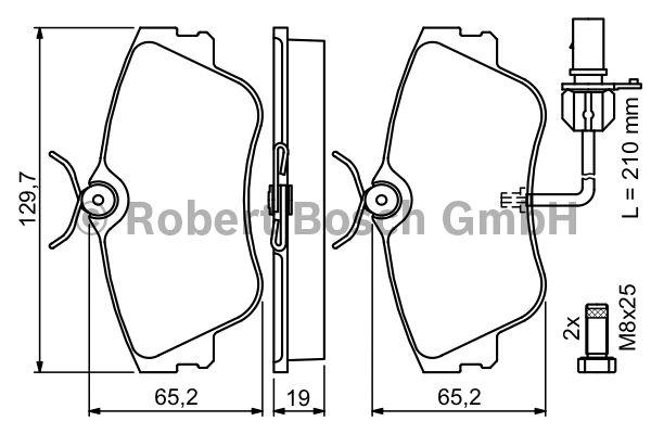 Kit de plaquettes de frein, frein à disque - BOSCH - 0 986 424 672