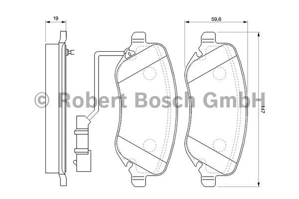 Kit de plaquettes de frein, frein à disque - BOSCH - 0 986 424 679