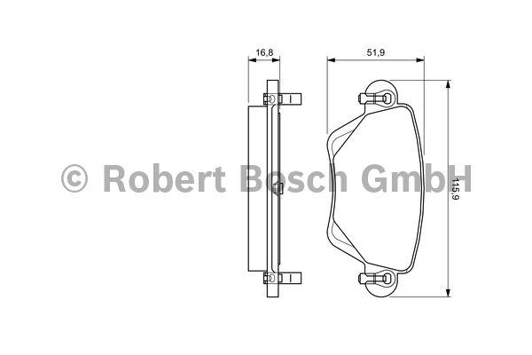 Kit de plaquettes de frein, frein à disque - BOSCH - 0 986 494 046