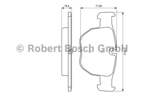 Kit de plaquettes de frein, frein à disque - BOSCH - 0 986 424 687