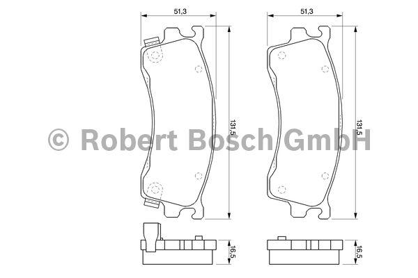 Kit de plaquettes de frein, frein à disque - BOSCH - 0 986 424 694