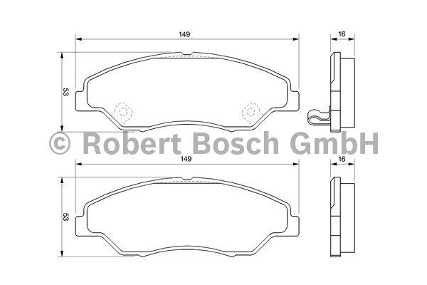 Kit de plaquettes de frein, frein à disque - BOSCH - 0 986 424 696
