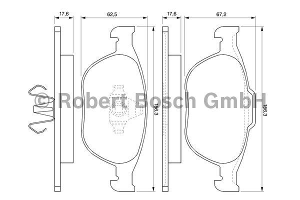 Kit de plaquettes de frein, frein à disque - BOSCH - 0 986 424 701