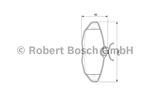Kit de plaquettes de frein, frein à disque - BOSCH - 0 986 424 702
