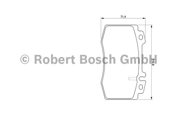 Kit de plaquettes de frein, frein à disque - BOSCH - 0 986 424 705