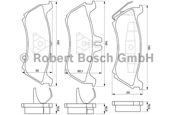 Kit de plaquettes de frein, frein à disque - BOSCH - 0 986 424 708