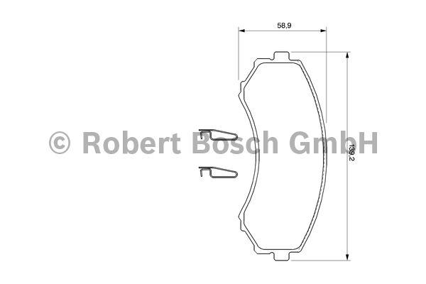 Kit de plaquettes de frein, frein à disque - BOSCH - 0 986 424 709