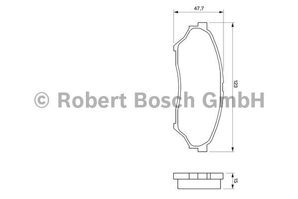 Kit de plaquettes de frein, frein à disque - BOSCH - 0 986 424 713