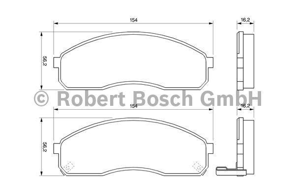 Kit de plaquettes de frein, frein à disque - BOSCH - 0 986 424 714