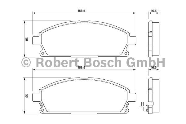 Kit de plaquettes de frein, frein à disque - BOSCH - 0 986 424 715
