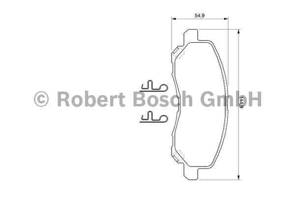 Kit de plaquettes de frein, frein à disque - BOSCH - 0 986 424 716