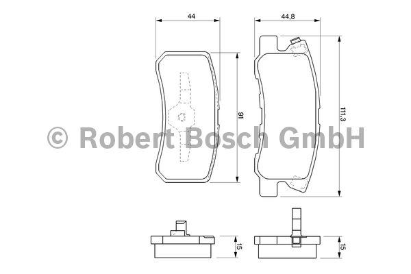 Kit de plaquettes de frein, frein à disque - BOSCH - 0 986 424 717