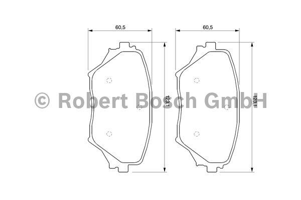 Kit de plaquettes de frein, frein à disque - BOSCH - 0 986 424 719