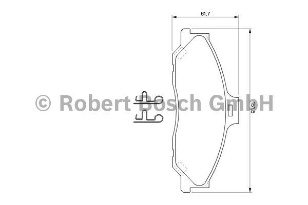 Kit de plaquettes de frein, frein à disque - BOSCH - 0 986 424 720