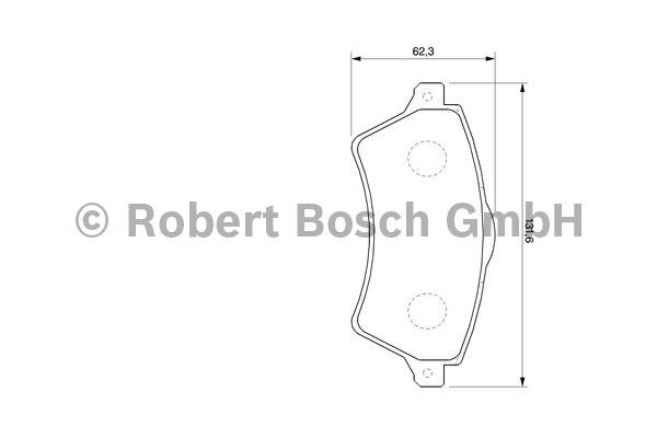 Kit de plaquettes de frein, frein à disque - BOSCH - 0 986 424 721