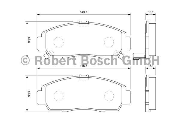Kit de plaquettes de frein, frein à disque - BOSCH - 0 986 424 722