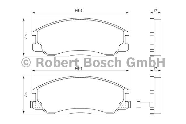 Kit de plaquettes de frein, frein à disque - BOSCH - 0 986 424 729