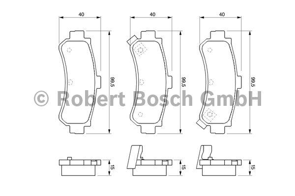 Kit de plaquettes de frein, frein à disque - BOSCH - 0 986 424 734