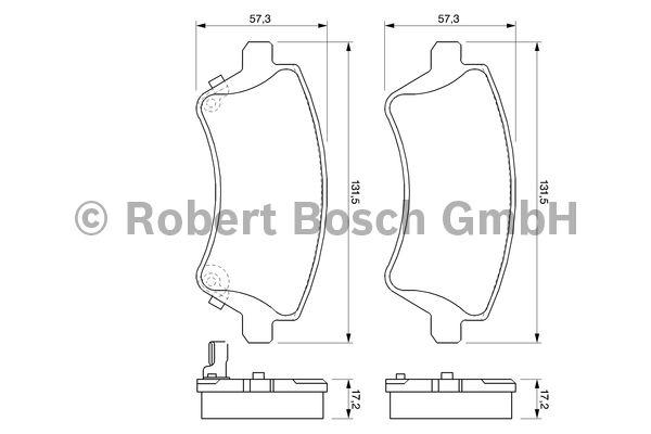 Kit de plaquettes de frein, frein à disque - BOSCH - 0 986 424 735