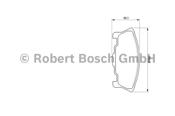 Kit de plaquettes de frein, frein à disque - BOSCH - 0 986 424 737