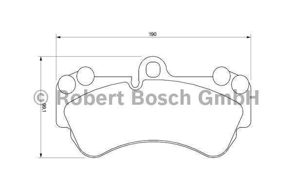 Kit de plaquettes de frein, frein à disque - BOSCH - 0 986 424 740