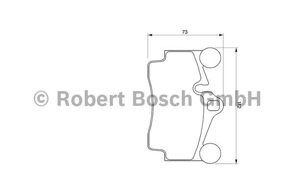 Kit de plaquettes de frein, frein à disque - BOSCH - 0 986 424 741
