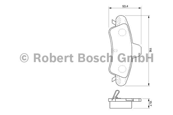 Kit de plaquettes de frein, frein à disque - BOSCH - 0 986 424 744