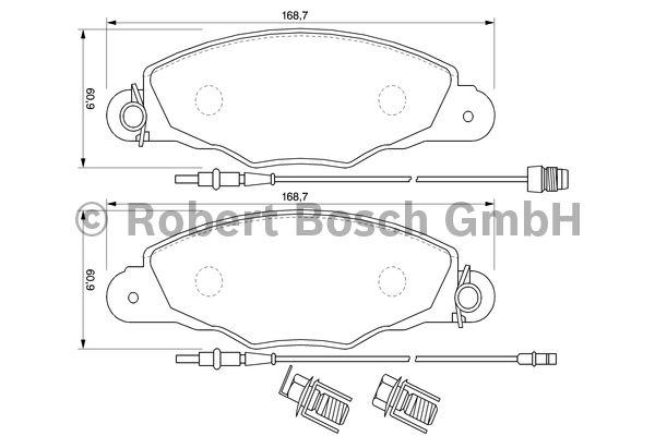 Kit de plaquettes de frein, frein à disque - BOSCH - 0 986 424 746