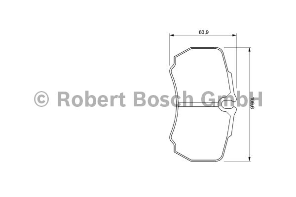 Kit de plaquettes de frein, frein à disque - BOSCH - 0 986 424 750