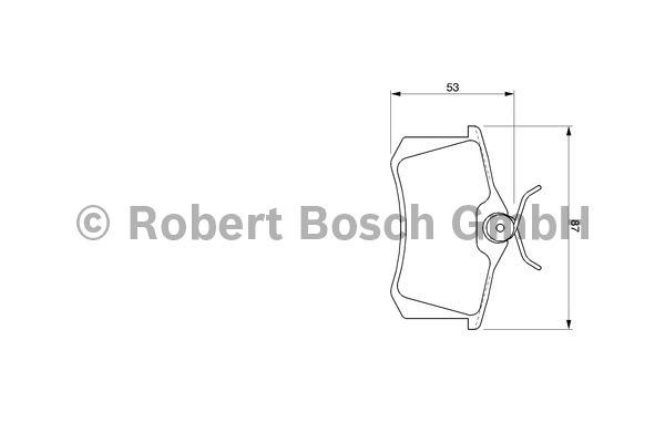 Kit de plaquettes de frein, frein à disque - BOSCH - 0 986 424 751