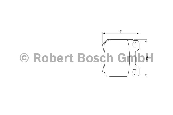 Kit de plaquettes de frein, frein à disque - BOSCH - 0 986 424 754