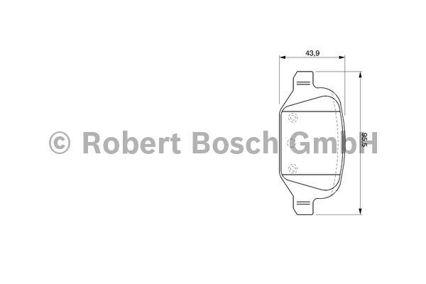 Kit de plaquettes de frein, frein à disque - BOSCH - 0 986 424 756