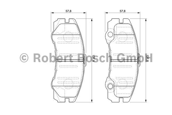Kit de plaquettes de frein, frein à disque - BOSCH - 0 986 424 760