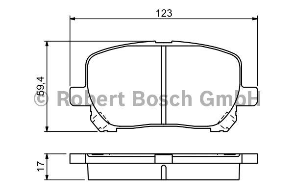 Kit de plaquettes de frein, frein à disque - BOSCH - 0 986 424 761