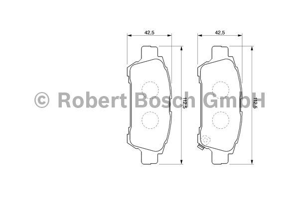 Kit de plaquettes de frein, frein à disque - BOSCH - 0 986 424 762