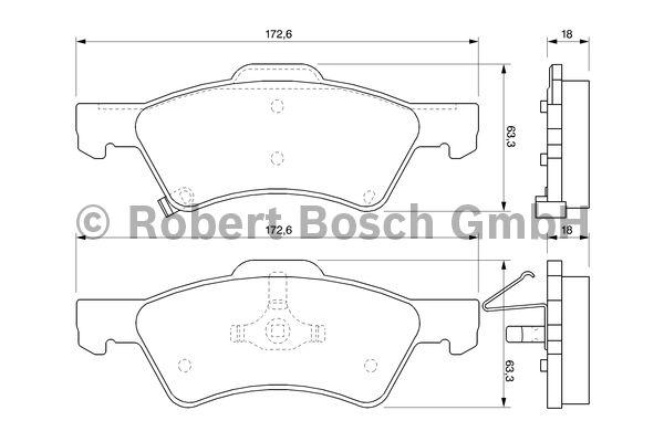 Kit de plaquettes de frein, frein à disque - BOSCH - 0 986 424 765