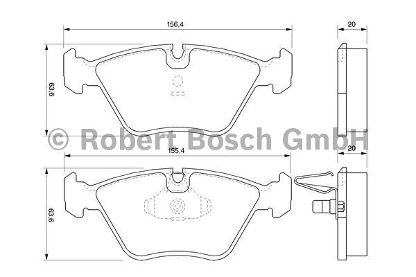 Kit de plaquettes de frein, frein à disque - BOSCH - 0 986 424 767