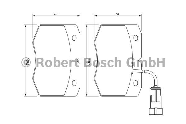 Kit de plaquettes de frein, frein à disque - BOSCH - 0 986 424 768