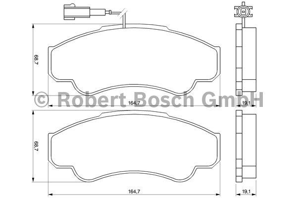 Kit de plaquettes de frein, frein à disque - BOSCH - 0 986 424 769