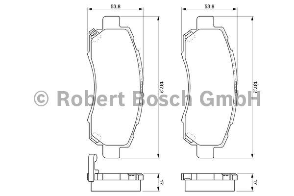 Kit de plaquettes de frein, frein à disque - BOSCH - 0 986 424 770