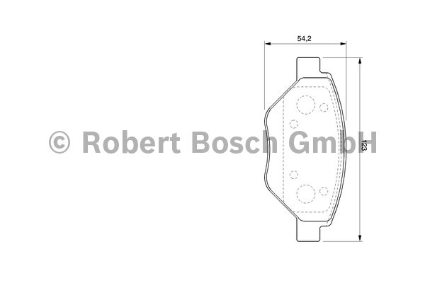 Kit de plaquettes de frein, frein à disque - BOSCH - 0 986 424 774